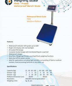 Presisi PWB Waterproof Bench Scale